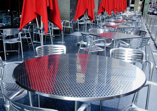 Johnson Lane, NV Stainless Steel Dining Table