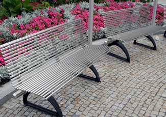 Virginia City, NV Stainless Steel Benches